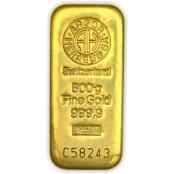 Goldbarren 500 Gramm Argor- LBMA zertifiziert