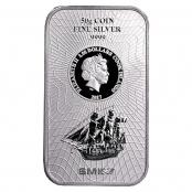Cook Islands 50 g Silber - Die Vorderseite zeigt eine Abbildung des Segelschiffs Bounty