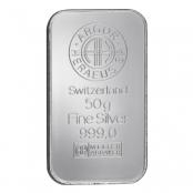 Silberbarren 50g Argor-Heraeus- LBMA zertifiziert von Argor-Heraeus