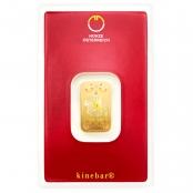 Goldbarren kinebar™ 5 Gramm - Blsiterkarte