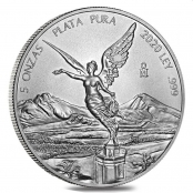 Libertad 5 oz Silber 2020 - Motivseite