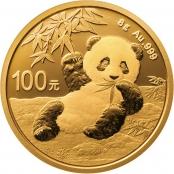 Panda 8 Gramm Gold 2020 - Pandamotiv