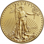 American Eagle 1/4 oz Gold 2020- Motivseite mit Walking Liberty