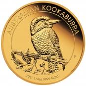 Kookaburra 1/4 oz Gold 2021 - Prägefrisch direkt von der Perth Mint