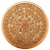 Aztekenkalender 2 oz Kupfer - Motivseite