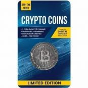 Bitcoin 1 oz Silver Antique Coin - Front