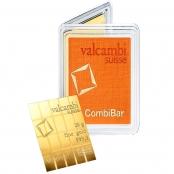 20 x 1 g Gold CombiBar Valcambi - LBMA zertifiziert