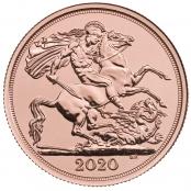 Double Gold Sovereign, Ausgeliefert werden prägefrische Sovereign des Jahrganges 2020