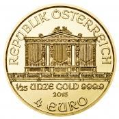 Philharmoniker 1/25 oz Gold 2015 - Wertseite