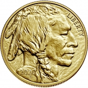 American Buffalo 1 oz Gold 2020 - Wertseite