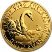 Schwan 1 oz Gold 2019 - Prägefrische Neuware