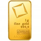 Goldbarren Valcambi 1 Gramm - LBMA zertifiziert
