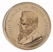Krügerrand 1 oz Gold 2019 - Die Motivseite des Krügerrands in Gold zeigt den südafrikanischen Politiker Paul Kruger