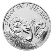 Lunar Schaf UK 1 oz Silber 2015 - Motivseite