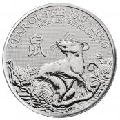 Lunar Maus UK 1 oz Silber 2020 - Motivseite