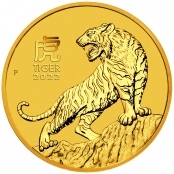 Lunar III - Tiger 1/4 oz Gold 2022 - Motivseite