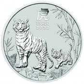 Lunar III -  Tiger 1 oz Silber 2022 -  Auflage nur 300.000 Stück
