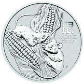 Lunar Maus 5 oz Silber 2020 - Motivseite