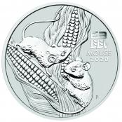 Lunar Maus 2 oz Silber 2020 - Motivseite