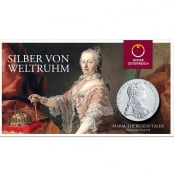 Maria Theresien Taler Proof - Vorderseite Blister