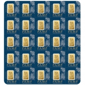 Multigram+25 Gold PAMP Suisse - Assay Card Rückseite