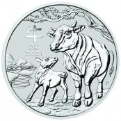 Lunar III - Ochse 5 oz Silber 2021 - Motivseite