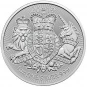 Royal Arms 1 oz Silber 2019 - Motivseite