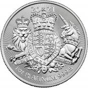Royal Arms 1 oz Platin 2021 - Motivseite