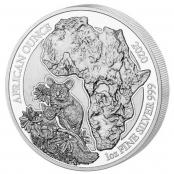 Ruanda Bushbaby 1 oz Silber 2020 - Motivseite