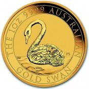 Schwan 1 oz Gold 2021 - Prägefrische Neuware
