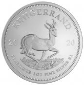 Krügerrand 1 oz Silber 2020 kaufen, die mit Abstand beliebteste Silbermünze in Europa