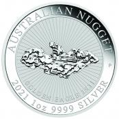 Australian Nugget 1 oz Silber Golden Eagle  - Motivseite