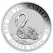 Schwan 1 oz Silber 2021 - Motivseite