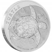 Turtle 1 oz Silber 2020 - Motivseite