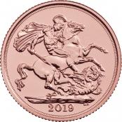 Gold Sovereign, Ausgeliefert werden prägefrische Sovereign des Jahrganges 2019