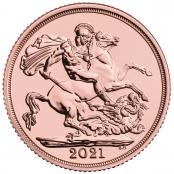 Gold Sovereign, Ausgeliefert werden prägefrische Sovereign des Jahrganges 2021