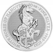 Queen's Beasts White Horse 10 oz Silber 2021 - Motivseite