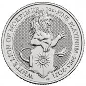 Queen's Beasts White Lion 1 oz Platin 2021 - Motivseite