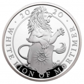 Queen's Beasts White Lion 1 oz Silber 2020 Proof - Motivseite