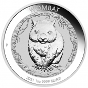 Wombat 1 oz Silber 2021 - Motivseite