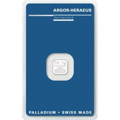 Palladiumbarren 1 Gramm Argor-Heraeus