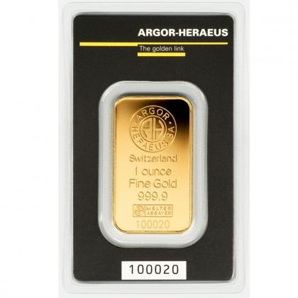 Gold Bar kinebar™ 1 oz Argor-Heraeus