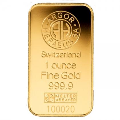 Goldbarren Argor-Heraeus 1 oz