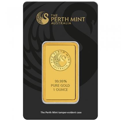 Gold Bar Perth Mint Kangaroo 1 oz