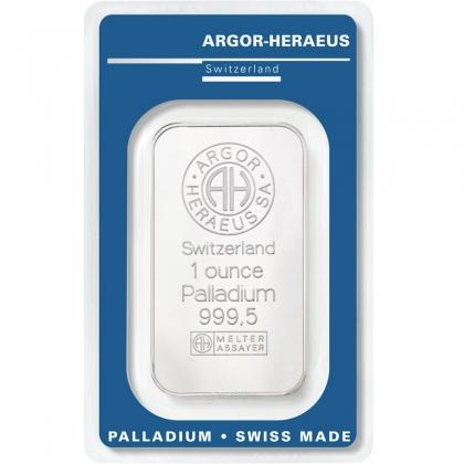 Palladiumbarren 1 oz Argor-Heraeus