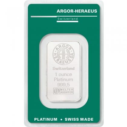 Platinbarren 1 oz Argor-Heraeus (B-Ware)
