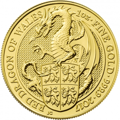 Queen's Beasts Dragon 1 oz Gold 2017