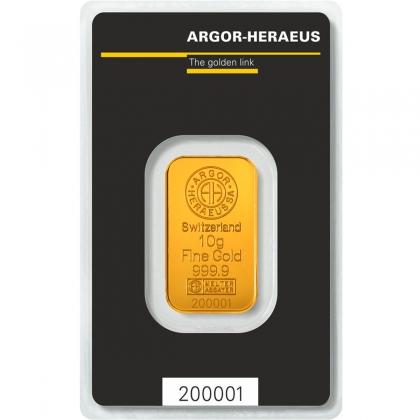 Goldbarren Argor-Heraeus 10 Gramm