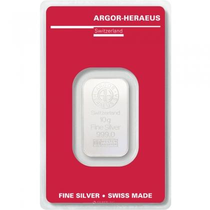 Silberbarren 10 g Argor-Heraeus