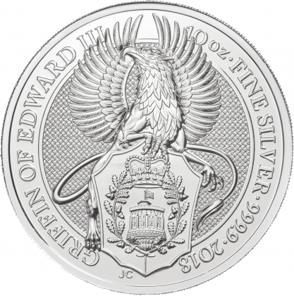 Queen's Beasts Griffin 10 oz Silber 2018